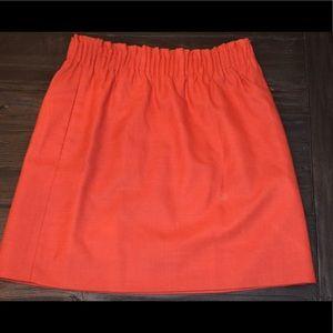 J. Crew Strawberry Red Skirt